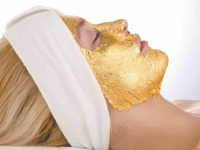 Facial treatment using colloidal gold mask and Q10  coenzyme 1